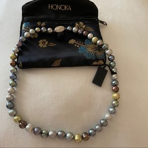 Honora Pearls Sterling Silver Necklace 18 Inches